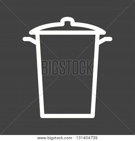 Garbage, bin, house icon vector image.Can also be used for home . Suitable for mobile apps, web apps and print media.
