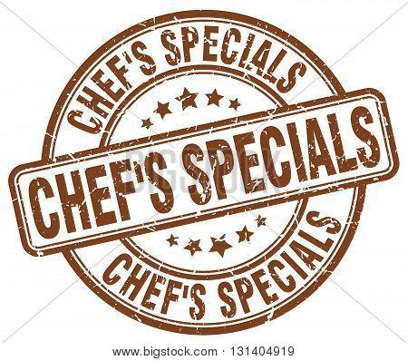 chef's specials brown grunge round vintage rubber stamp.chef's specials stamp.chef's specials round stamp.chef's specials grunge stamp.chef's specials.chef's specials vintage stamp.