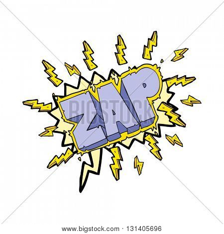 freehand drawn speech bubble cartoon zap symbol