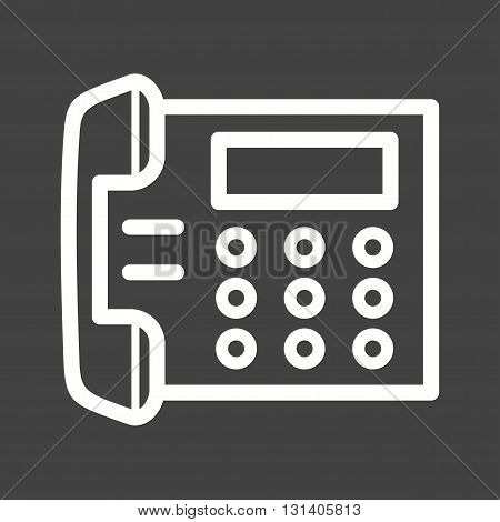 Telephone, office, dial icon vector image.Can also be used for home. Suitable for mobile apps, web apps and print media.