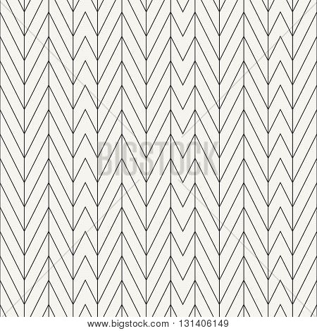 Vector seamless pattern. Modern stylish outlined texture with repeating irregular chevron design.