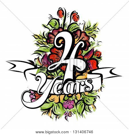 4 Years Greeting Card Design