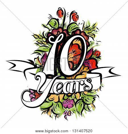 10 Years Greeting Card Design