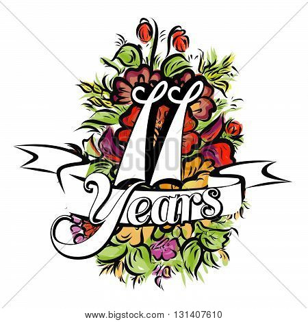 11 Years Greeting Card Design