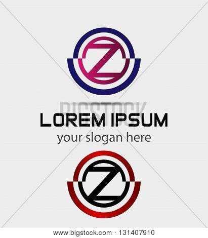 Abstract letter z logo. Alphabet logotype vector design