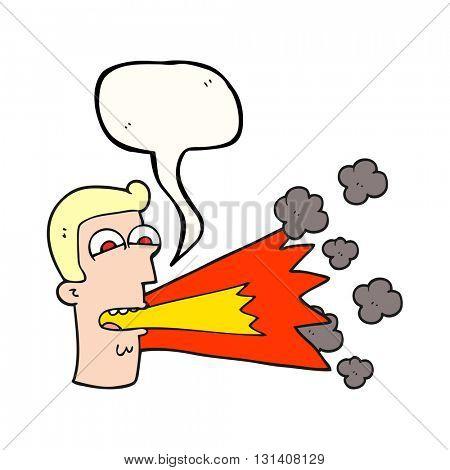 freehand drawn speech bubble cartoon shouting man