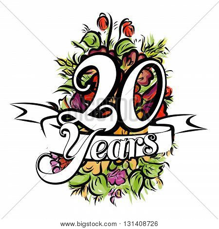 20 Years Greeting Card Design