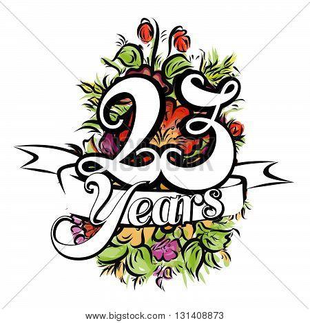 23 Years Greeting Card Design