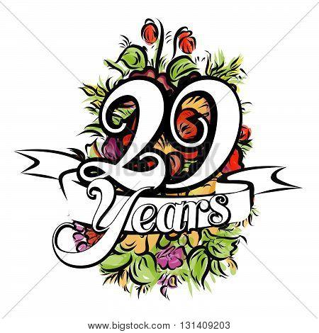 29 Years Greeting Card Design