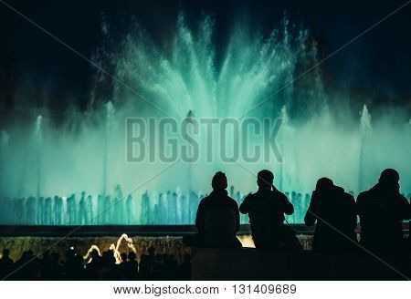 Magic Fountain of Montjuic in Barcelona Spain