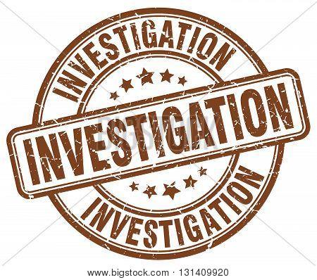 investigation brown grunge round vintage rubber stamp.investigation stamp.investigation round stamp.investigation grunge stamp.investigation.investigation vintage stamp.