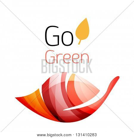 Go green nature concept. Vector logo leaf