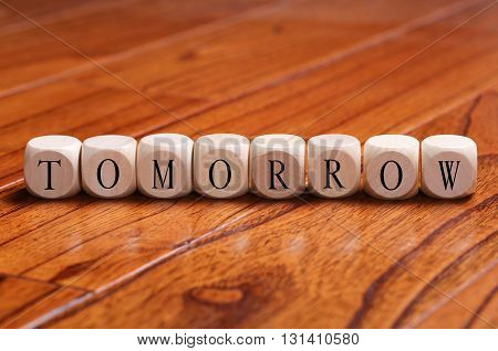 Tomorrow Word Concept