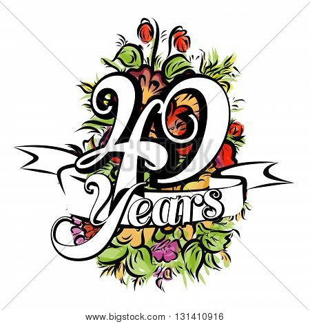 49 Years Greeting Card Design