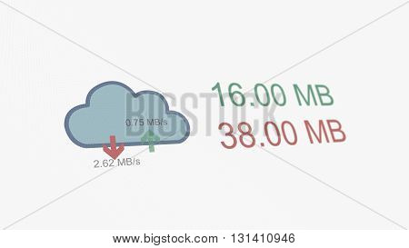 Cloud File Sharing Upload Download Counters Online Concept