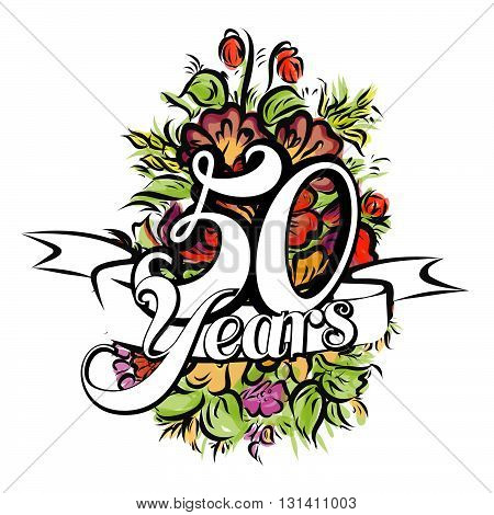 50 Years Greeting Card Design