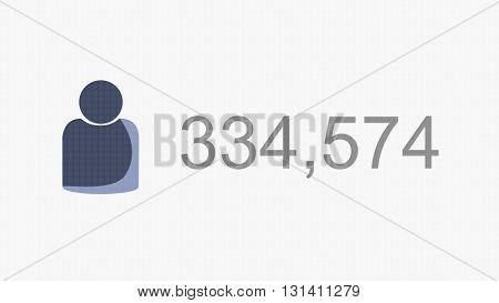 Extreme Growth of Online Followers Illustration Concept