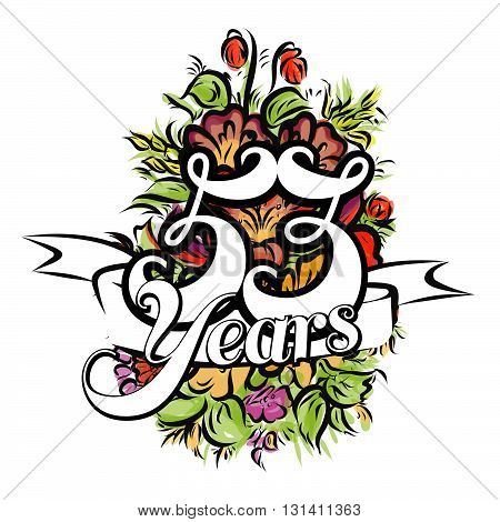53 Years Greeting Card Design