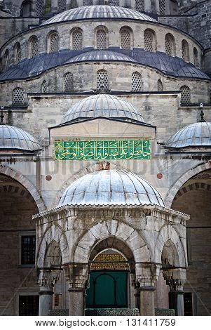 Sultan Ahmed Mosque known as the Blue Mosque in Istanbul. Turkey
