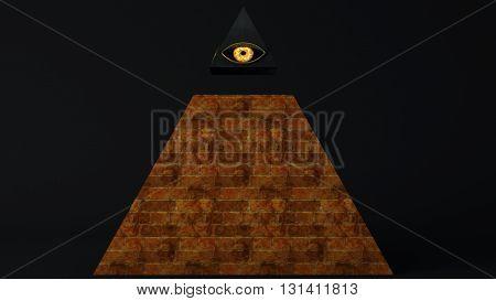 All Seeing Eye Of God , The Eye Of Providence Pyramid Illuminati Symbol