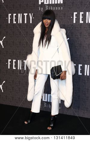 NEW YORK-FEB 12: Model Naomi Campbell attends the FENTY PUMA by Rihanna AW16 Collection during Fall 2016 New York Fashion Week at 23 Wall Street on February 12, 2016 in New York City.