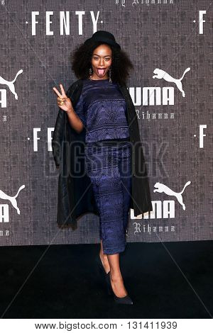 NEW YORK-FEB 12: Actress Nomzamo Mbatha attends the FENTY PUMA by Rihanna AW16 Collection during Fall 2016 New York Fashion Week at 23 Wall Street on February 12, 2016 in New York City.