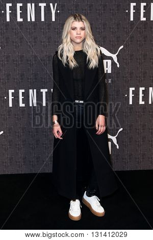 NEW YORK-FEB 12: Model Sofia Richie attends the FENTY PUMA by Rihanna AW16 Collection during Fall 2016 New York Fashion Week at 23 Wall Street on February 12, 2016 in New York City.