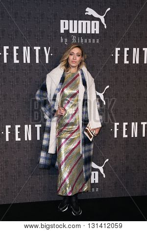 NEW YORK-FEB 12: Designer Aland Hadid attends the FENTY PUMA by Rihanna AW16 Collection during Fall 2016 New York Fashion Week at 23 Wall Street on February 12, 2016 in New York City.