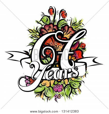 67 Years Greeting Card Design