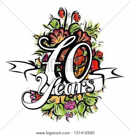 70 Years Greeting Card Design