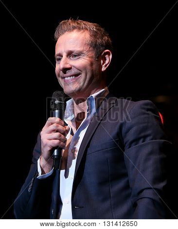 HUNTINGTON, NY-MAR 25: Ventriloquist Paul Zerdin performs onstage at the Paramount on March 25, 2016 in Huntington, New York.