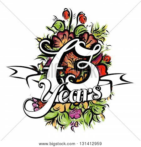 73 Years Greeting Card Design