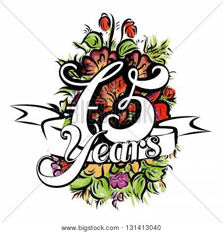 75 Years Greeting Card Design
