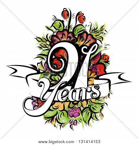 91 Years Greeting Card Design