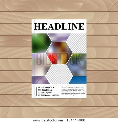 Vector Template For Brochures, Covers, Flyers Or Business Reports. Abstract Colorful Background Of H