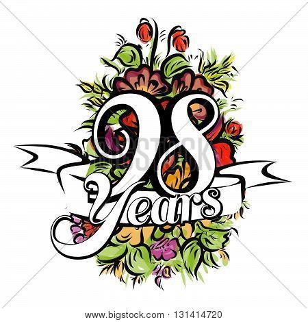 98 Years Greeting Card Design