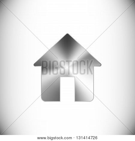 The steel icon representing home for web or mobile devices.