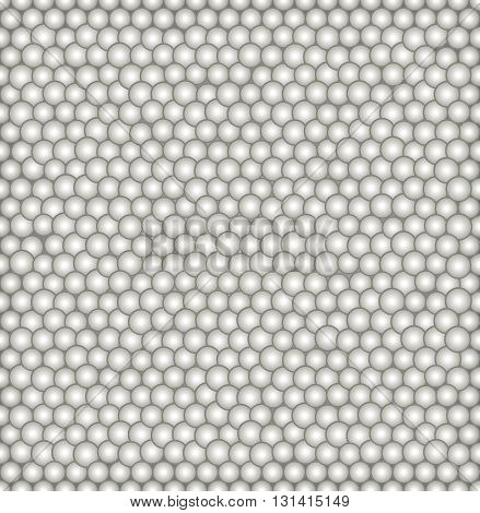 Abstract vector seamless pattern with irregular structure of repeating gray circles with volume effect. Repeating modern stylish geometric background for textile wallpapers or wrapping paper.