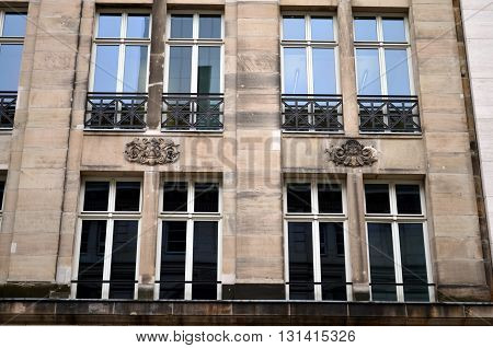 Facade in Berlin capital city of Germany