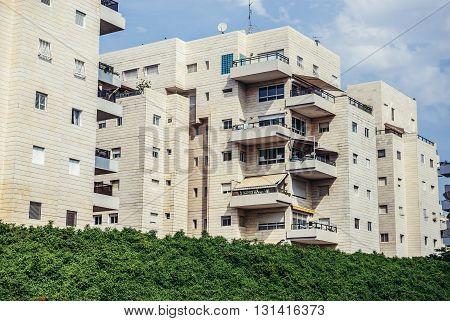 Apartment houses in Tel Aviv city Israel