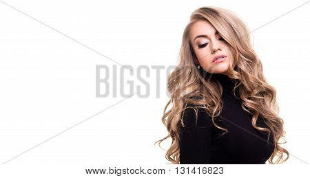 Sensual Woman Posing In Studio.