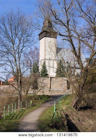 Old medieval church in Siedlecin, Silesia, Poland