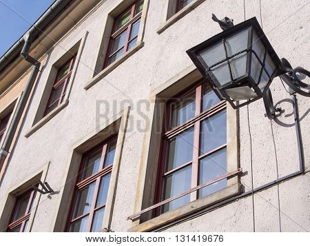 lamp at townhall square in Jelenia Gora, Poland