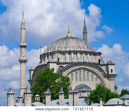 The Nuruosmaniye Mosque is an Ottoman mosque in Fatih district in Istanbul Turkey.