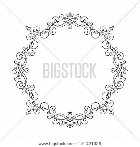 Elegant luxury vintage calligraphy frame. Template for greeting card invitation diploma. Illustration in retro style. Vector