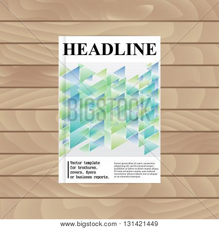 Vector Template For Brochures, Covers, Flyers Or Business Reports. Abstract Mosaic. Triangles.