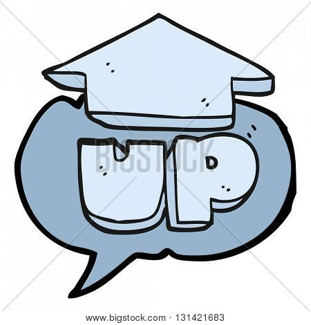 freehand drawn speech bubble cartoon up symbol