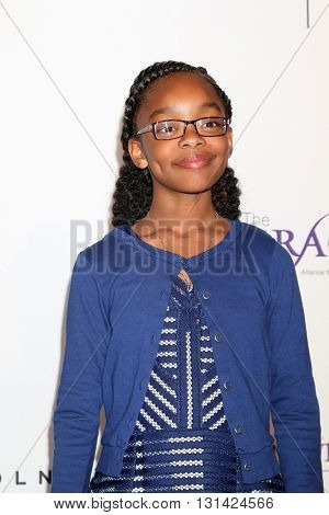 LOS ANGELES - MAY 24:  Marsai Martin at the 41st Annual Gracie Awards Gala at Beverly Wilshire Hotel on May 24, 2016 in Beverly Hills, CA