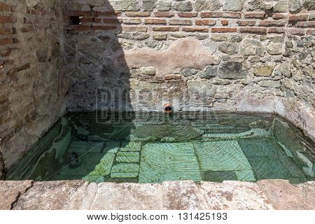Ancient pool in Thermal Baths of Diocletianopolis, town of Hisarya, Plovdiv Region, Bulgaria