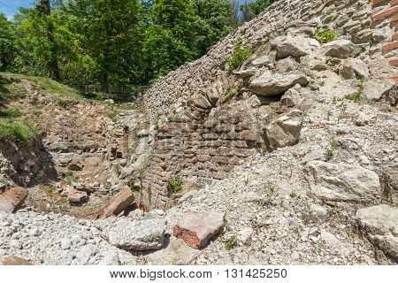Ruins of The ancient Thermal Baths of Diocletianopolis, town of Hisarya, Plovdiv Region, Bulgaria